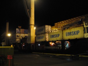 The test container hauled ashore in Westman Isles